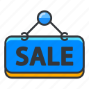 estate, real, sale, sign icon