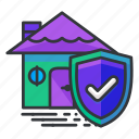 estate, house, real, security icon