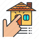 estate, house, real, select icon