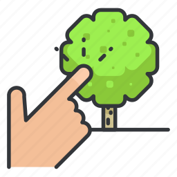 estate, real, select, tree icon