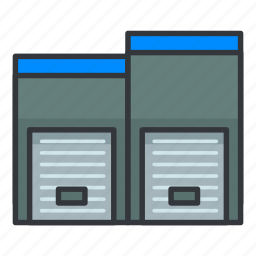 estate, lockers, real, storage icon