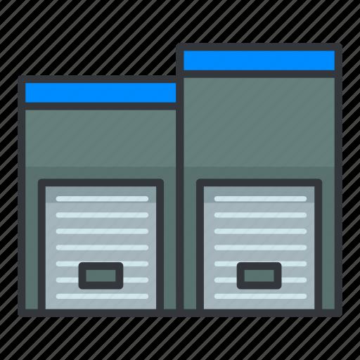 Estate, lockers, real, storage icon - Download on Iconfinder