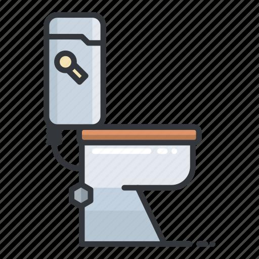bathroom, estate, furniture, real, toilet icon