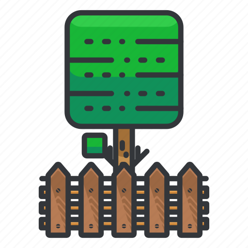 estate, fence, real, tree icon