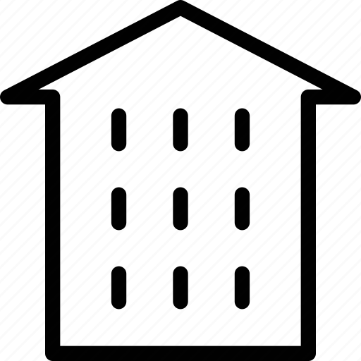 apartments, building, estate, house, office, real estate icon