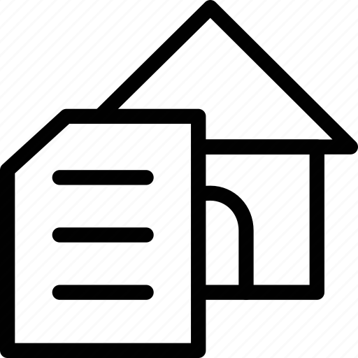 documentation, documents, file, paper, property, real estate, text icon