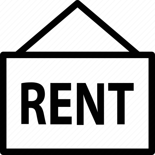 for rent, property, real estate, rent, rent sign, sign icon