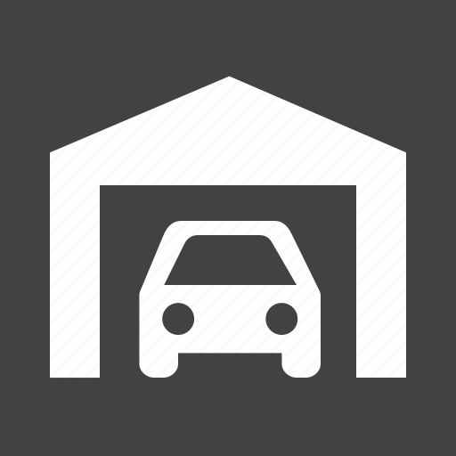 automobile, car, garage, parking, shutter, vehicle icon