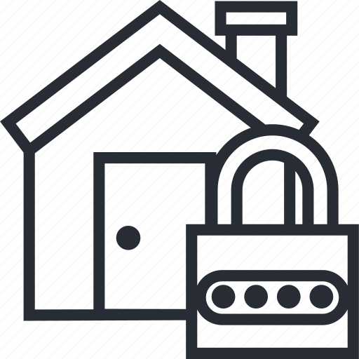 buy, estate, home, house, housing, locked, real icon