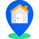 buy, estate, home, house, housing, pin, real icon