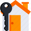 estate, home, house, housing, key, real, smart icon