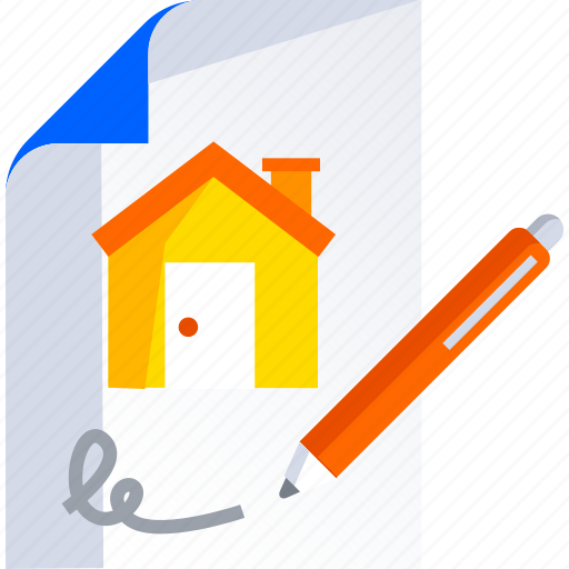 buy, contract, estate, home, house, housing, real icon