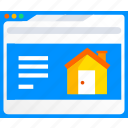 buy, estate, home, house, housing, real, webpage icon