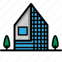 building, home, house, realestate, residential icon