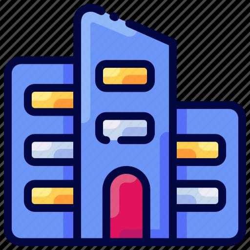 apartment, building, bukeicon, city, estate, real icon