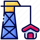 building, construction, crane, estate, house, real, tower