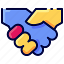 bukeicon, business, deal, hand, handshake, property icon