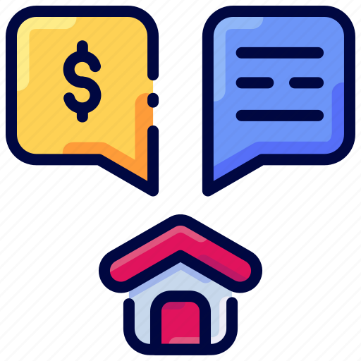 Bukeicon, conversation, discussion, dollar, home, house icon - Download on Iconfinder