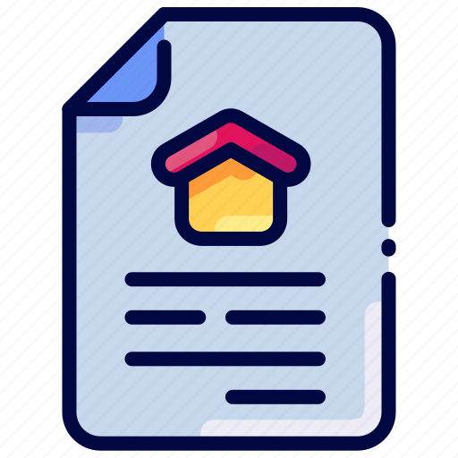 Bukeicon, contract, document, estate, property, real icon - Download on Iconfinder