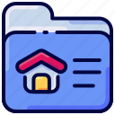 bukeicon, folder, house, project icon