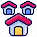 bukeicon, estate, house, housing, real icon