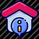 address, bukeicon, house, information, property, realestate icon