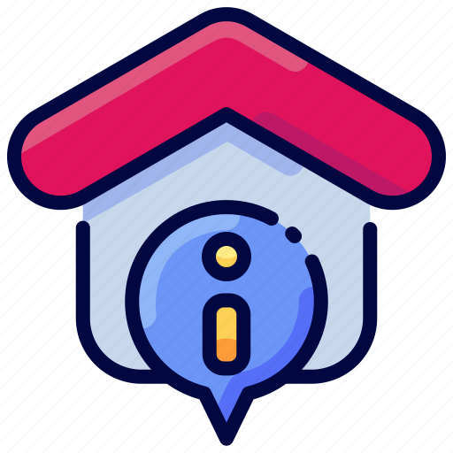 address, bukeicon, house, information, property, realestate icon