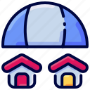 bukeicon, estate, insurance, property, real, umbrella icon