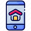 app, bukeicon, estate, house, mobile, real icon