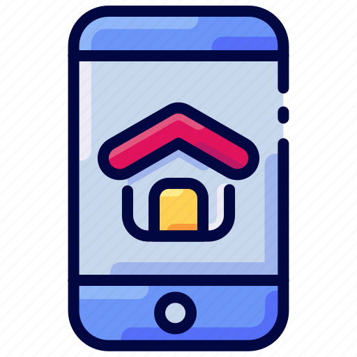 App, bukeicon, estate, house, mobile, real icon - Download on Iconfinder