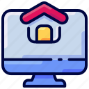 bukeicon, house, monitor, webpage, website icon