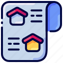 bukeicon, home, house, news, paper, property icon