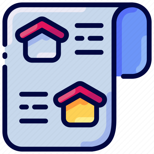 Bukeicon, home, house, news, paper, property icon - Download on Iconfinder