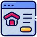 bukeicon, house, marketplace, online, property, window icon