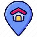 bukeicon, gps, home, house, location, pin, realestate