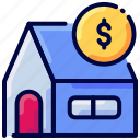 bank, bukeicon, house, money, saving icon