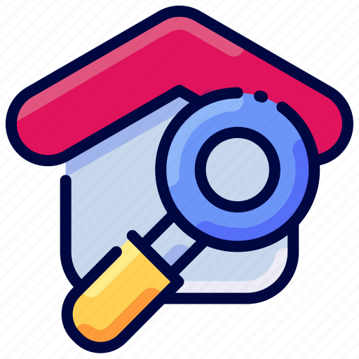 Bukeicon, estate, find, home, house, real, search icon - Download on Iconfinder