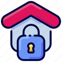 bukeicon, estate, house, lock, property, real, security