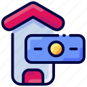 bukeicon, buy, credit, dollar, house, sell icon