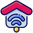 bukeicon, house, internet, property, smart, wifi icon