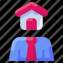 agent, broker, bukeicon, estate, investor, property, real