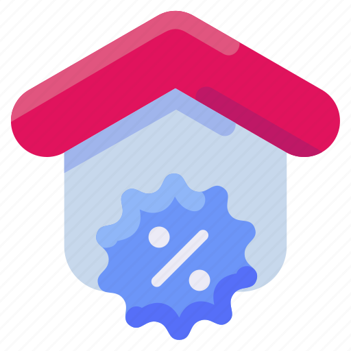 Bukeicon, discount, estate, house, percent, real icon - Download on Iconfinder