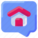 bukeicon, chat, conversation, home, house, realestate, talk icon