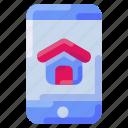 app, bukeicon, estate, house, mobile, real
