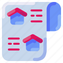 bukeicon, home, house, news, paper, property