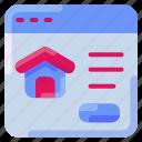 bukeicon, house, marketplace, online, property, window