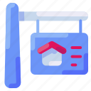 bukeicon, estate, home, house, property, real, sale icon