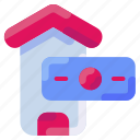 bukeicon, buy, credit, dollar, house, sell