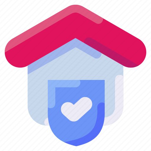 bukeicon, estate, protection, real, secure, shield icon