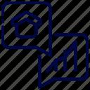 bukeicon, chart, dialog, estate, finance, real icon